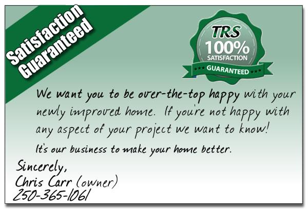 TRS Gutters Warranty